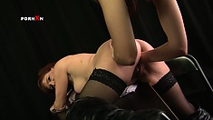 Mishka slowly fist fucks Faye's tight pussy and her whole body trembles with delight