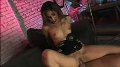 Sexy Latina piece of ass loves to get jizzed by a monster fuck rod