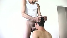 Angry brownie king sticks cock in mouth of his mate and then bangs his bottom