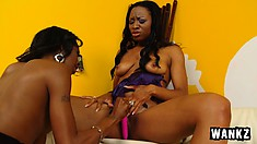 Lesbian beauties Imani and Dariel kiss each other and fulfill their sexual desires