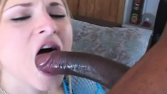 Kayla Marie loves black cock and she takes this one balls deep