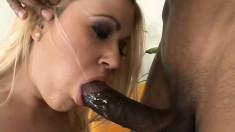 Filthy white slut Brandy Dallas craves the biggest black meat
