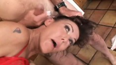 Nancy Vee gets her ass and pussy teased during a wild performance