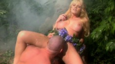 Fascinating blonde with perfect boobs Roxetta gets fucked in a fantasy