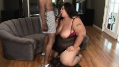 It takes one gigantic black dick to cut through this bitch's phat butt