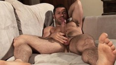 Marvelous stud with a ripped body Tristan Jaxx pleases his long stick