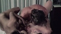 Two insatiable young tarts enjoy working this stud's rigid boner