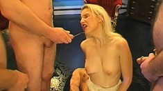Ladies of extraordinary skill at handling cocks love to get peed on and drink it