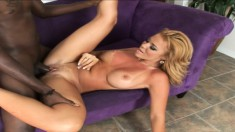 Busty Gia Marley enjoys all the pleasures that a black stick provides