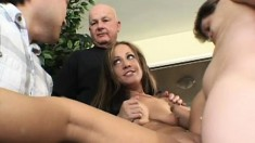 Cheating wife Samantha fucks another man in front of her horny husband