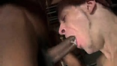 Hung black stud gives his lustful white gay lover the fuck he deserves