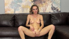 Sexy slender blonde Natasha gets her pussy fucked the way she needs it