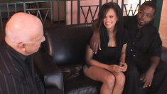 Exotic wife with big round hooters fucks a stranger to please her man