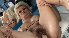 Slutty mature Effie loves to get her hairy twat stretched and pleased