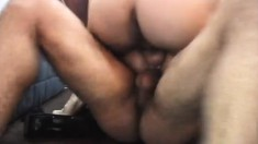 Two swinging dicks nail a blonde and give her a nasty DP and ass fucking