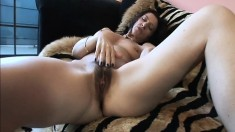 Striking Gina Rome takes every inch of a long prick in her hairy slit