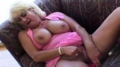 Dana's mature honey hole getting pounded deep and rough by a hung guy