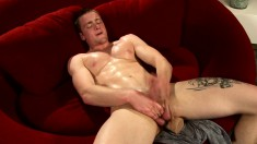 Attractive young stud Rick McCoy makes the most of his time by himself