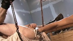 Cock-hungry guy enjoys getting his ass deeply fisted by a hunk