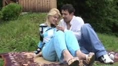 Outdoor Banging Blonde In All Her Holes