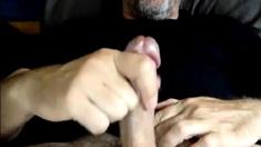 Hot Str8 Daddy Shoots a Nice Load #68