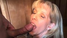 A Carol Cox CUM in Mouth Compilation