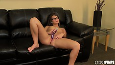 Artistic whore Abby Cross is digging deeper inside her luscious cunny