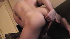 This handsome slut loves to show off his big dong and tight butt