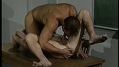 Handsome gay guy gets his ass pounded deep and hard in class