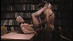 Hot stud on a leash blows his master's cock and gets fucked from behind