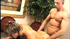 Cute blonde boy delivers a special blowjob and gets his ass nailed hard