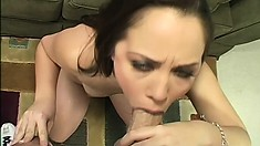 Dark hair, tiny titties, and amazing cunt gets fucked and sucked