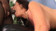 MILF Angelica Lauren makes this black dude fuck her as hard as he can