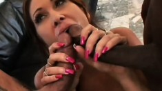 Stacked redhead has her husband and a black dude hammering her holes