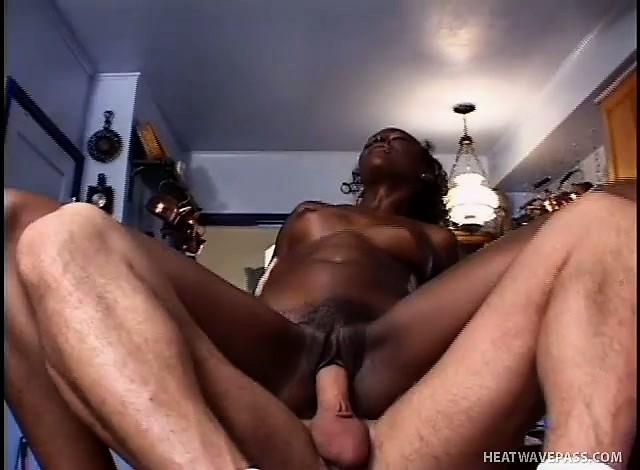 Black porn in kitchen