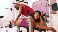Curvy Lady Finesse has her black trainer fulfilling her sexual desires