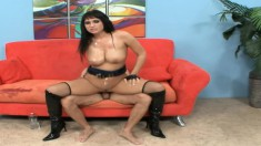 Busty Kitty Bella gets her pussy nailed and a load on her titties