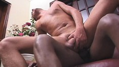 Alan Roiter Sucks On A Lady Dick And Gets It Shoved Up His Ass