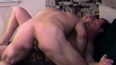 Eager gay guy moans while having his stiff prick sucked by a black dude