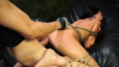 Helpless Esmi Lee enjoys an explosion of hardcore sex with a hung guy
