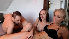 Blonde eurobabes amateur threesome
