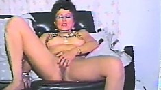 Solo masturbation scene Using rapacious brunette
