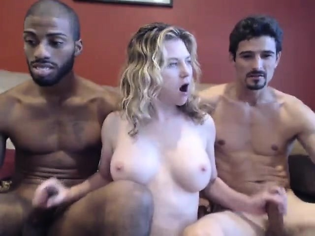 Free interracial threesome video can look