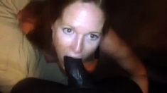 Sexy milf amateur wife interracial cuckold handjob
