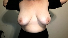Busty big natural boobs in webcam