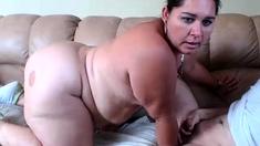 BBW Brunette Webcam Masturbating BBW