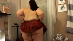 gorgeous SSBBW topless in skirt #2