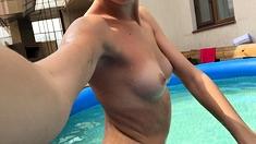 Softcore Oriental Small Legal Age Teenager Bikini Swimsuit