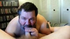 Daddy swallow fresh cum
