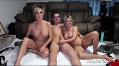Two horny mature nymphos shagging big cock guy live at sexyc